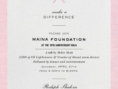 Maina Foundation Gala Invitation