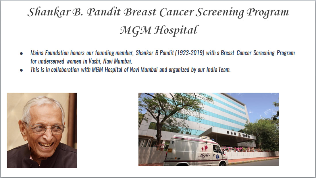 Shankar B. Pandit Breast Cancer Screening Program